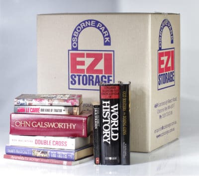 moving box to store books in