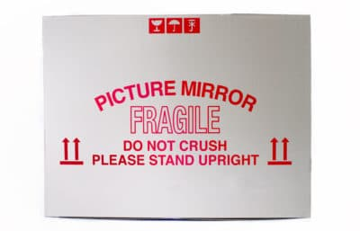 Picture mirror moving box