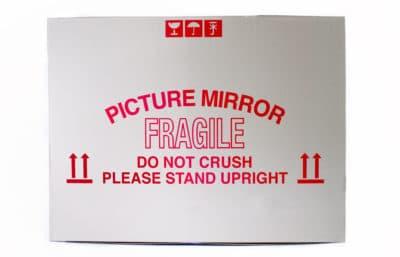 Picture mirror moving box