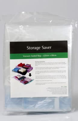 Vacuum sealed bag, helps maximise space