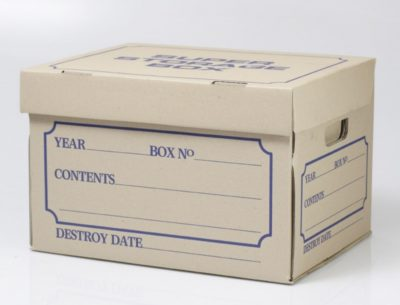 archive box, one of the types of packing boxes